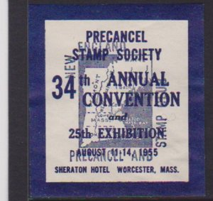 USA CINDERELLA STAMP ON 34th ANNUAL PSS CONVENTION IN WORCESTER MASS. LOT#145