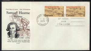 Canada 750 Hearne Cole Cover U/A FDC