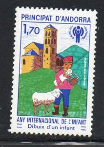 Andora (Fr) Sc 272 1979 International Year of the Child stamp mint NH