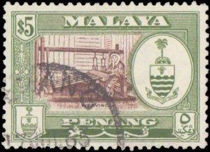 Malaya Penang #56-66, Complete Set(11), 1960, Used