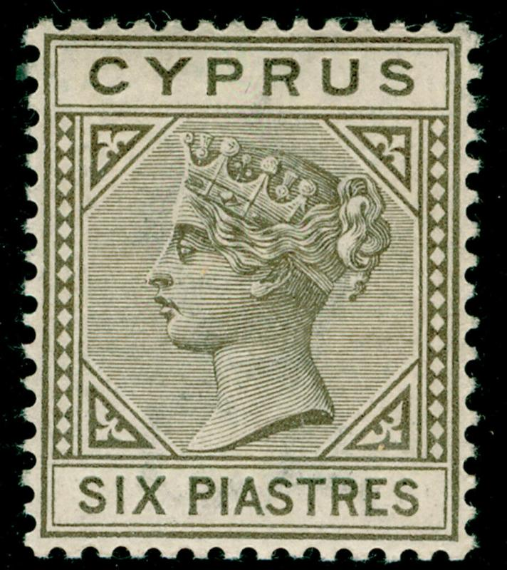 CYPRUS SG36, 6pi olive-grey, NH MINT. Cat £250.