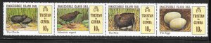 Tristan da Cunha MNH Strip 301 Inaccessible Island Rail Birds
