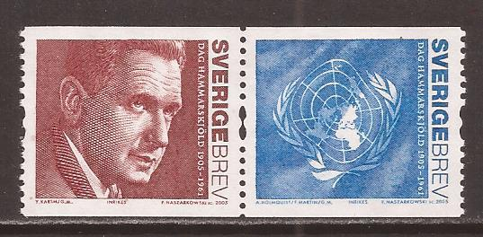 Sweden scott #2506 pair m/nh stock #35223