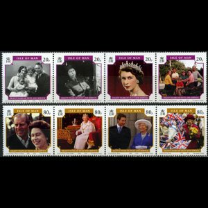 ISLE OF MAN 2006 - Scott# 1133-4 Queen Birthday Set of 8 NH