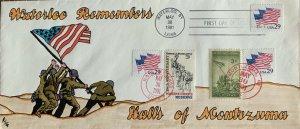 RJG Hand Painted #10 2531 Flags US Marines Raise Flag Hall(s) NY to Montezuma NY