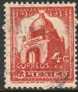 MEXICO 786, 4c 1934 Definitive Revolution monument Used. (761)