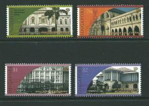 SINGAPORE SG971/4 1998 HISTORICAL BUILDINGS MNH