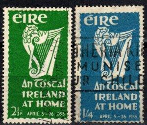Ireland #147-8  F-VF Used CV $26.25 (X3966)