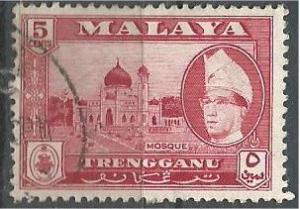 TRENGGANU, 1957, used 5c, Ismail Scott 78