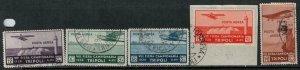Libya 1934 SC C14-C18 Used Set