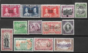 COLLECTION LOT #456 COOK ISLANDS 13 STAMPS MH/USED 1937+