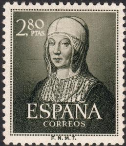 Spain 1951 2p.80 5th Centenary of Birth of Isabella MH