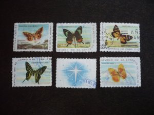 Stamps - Cuba - Scott# 696 - 700 - Used Set of 5 Stamps with 1 Label
