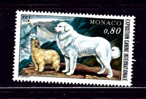 Monaco 1059 MNH 1971 Dogs