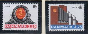 Denmark  Scott  914-5 1990 Europa stamp set mint NH