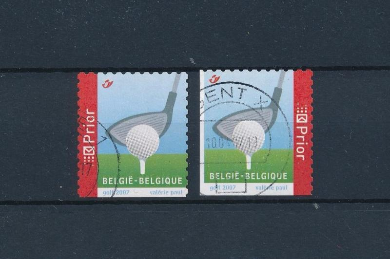 [58266] Belgium 2007 Golf from booklet Used