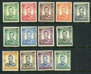 SOUTHERN RHODESIA-1937  An unmounted mint set to 5/- Sg 40-52