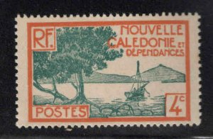 New Caledonia (NCE) Scott 138 MH* Typical centering.