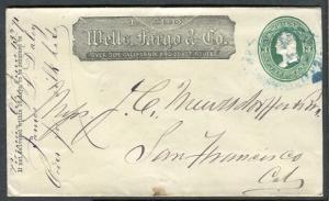 Cover - Wells Fargo - Virginia City NV to San Francisco CA 1871 - U83