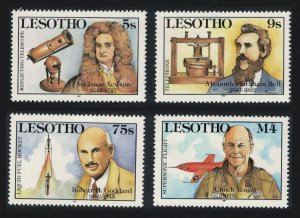 Lesotho Isaak Newton Telephone Rocket Plane Great Discoveries 3v SG#761-764