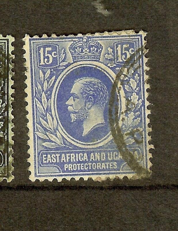 EAST AFRICA AND  UGANDA   (P0910B) KGV 15C  SG70    VFU