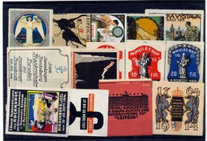 Germany Leipzig Women Early Poster Labels MH Mnh Unused x 15 (NT 3019s