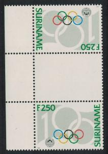 Suriname Cent of International Olympic Committee Gutter Pair Tete-beche SG#1594