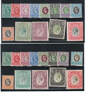 Somaliland Protectorate #51 - #63 & #64 - #76 Very Fine Mint Original Gum Hinged