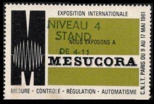 FRANCE, PARIS EXPOSITION INTERNATIONALE MESUCORA 6+17 MAI 1961 MNH CINDERELLA