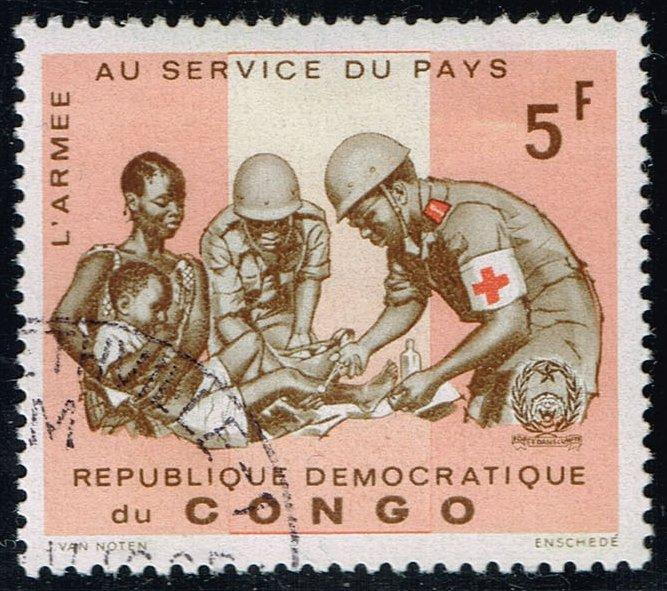 Congo DR #553 Soldiers Giving First Aid; CTO (0.25)