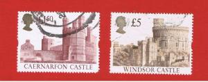 Great Britain  #1446 & 1448  VF used  Castles  Free S/H