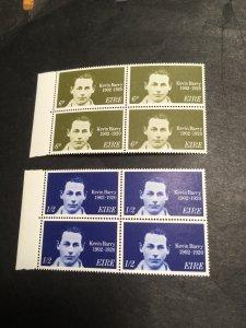 Ireland 2020 Scott #288-9 Mint Blocks of Four VF-NH Cat. $5. Kevin Barry