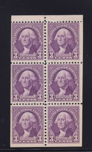 721 b booklet pane VF OG never hinged with nice color cv $ 60 ! see pic !