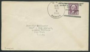 USA CHINA 1936 cover with cancel USS BARKER / SHANGHAI CHINA ..............61137