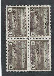 CANADA SC# 270 B/4  FVF/MNH 1946