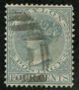 Ceylon SC#78 / SG#134 Victoria, 4c, canceled