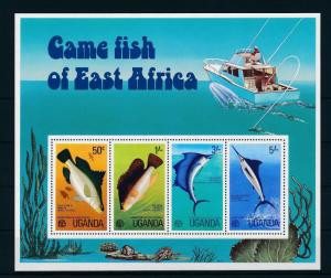 [26002] Uganda 1977 Marine Life Game fish of East Africa Sheet MNH