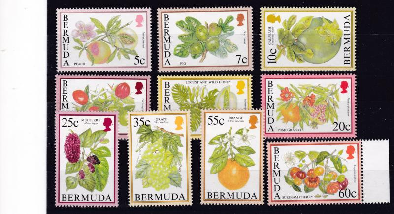 Bermuda 1994 QEII Flowering Fruits Complete (17)+ wmk-384 Complete (8) XF/NH