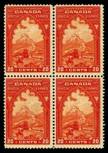 1927 Canada #E3 Special Delivery Block of 4 - Unused NG - VF - $90.00 (ESP#4134)