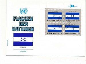 D112881 Flag Series Honduras FDC United Nations New York Bureau