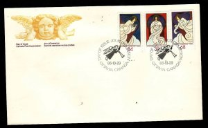Canada-Sc#1113-15-stamps on FDC-Christmas-1986-