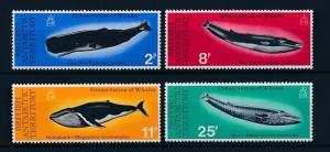 [37851] British Antarctic Territory BAT 1977 Marine life Whales MNH