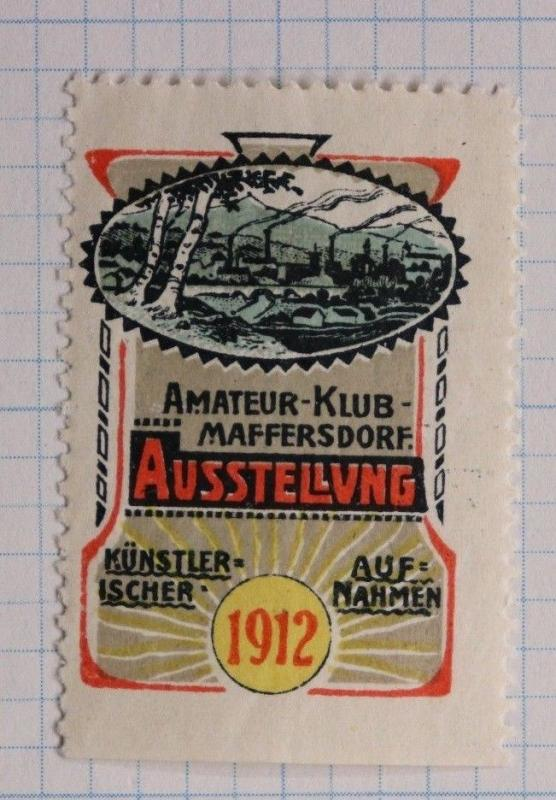Maffersdorf Amateur artistic recording film club 1912 poster seal ad expo art
