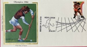 Colorano Silk 1984 Olympic Station Los Angeles, CA Field Hockey Station Cancel