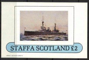 {ST123} Staffa Scotland Ships S/S 2£ MNH Local Cinderella !!