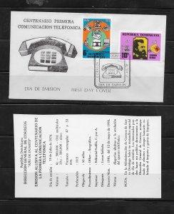 DOMINICAN REPUBLIC STAMPS,COVER COMUNICACION TELEFONICA 1976 #F30
