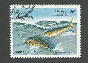 1981 Cuba Scott Catalog Number 2389 Used