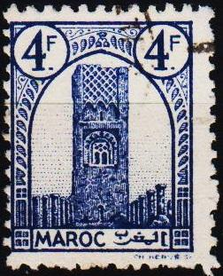 Morocco(French). 1943 4f  S.G.277 Fine Used