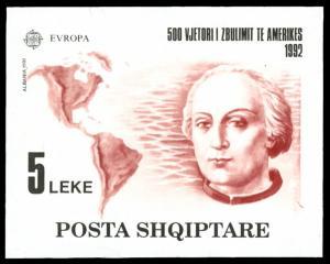 Albania #2423 MNH S/S CV$70.00 Europa CEPT Columbus [154034]
