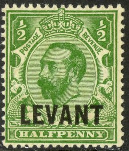 GREAT BRITAIN OFFICES IN TURKEY 1911-12 1/2d KGV Portrait Issue Sc 35 MLH